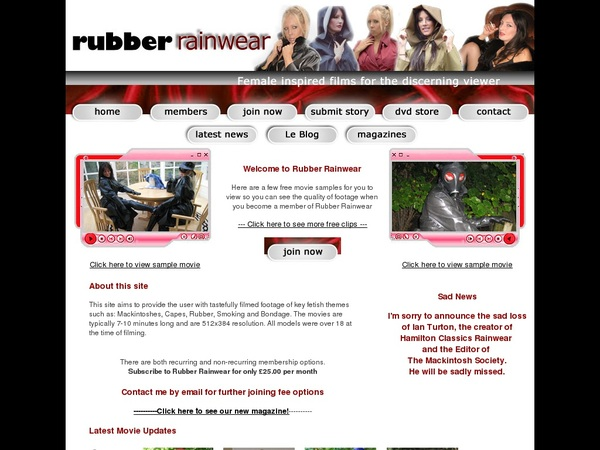 Rubber Rainwear Limited Time Offer