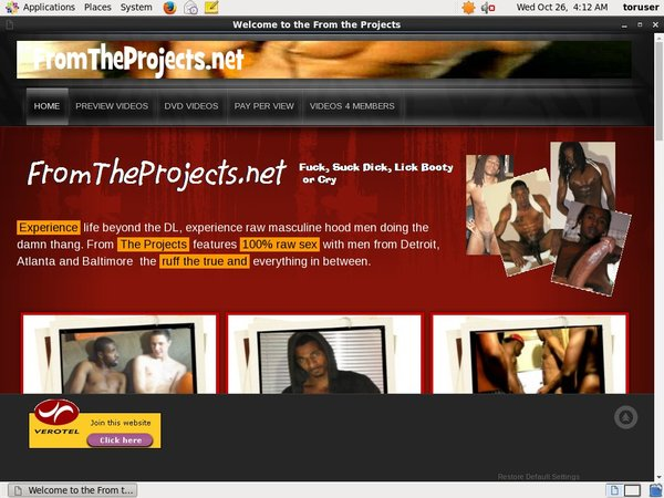 Fromtheprojects.net Pro Biller Page