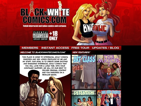 Black N White Comics Free Logins